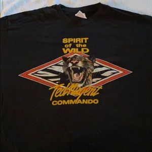 Vintage Ted Nugent commando concert T-shirt